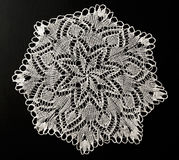 Crocheted lace napkin Stock Photography