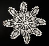 Crocheted lace napkin Royalty Free Stock Photo