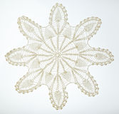 Crocheted lace on white Royalty Free Stock Photography