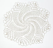Crocheted lace on white Royalty Free Stock Image