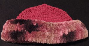 Crocheted Ladies Faux Fur Hat. This is a crocheted ladies faux fur hat that I have crocheted and that I have for sale Royalty Free Stock Image