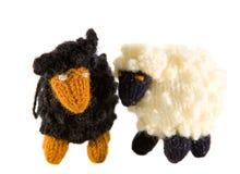 Crocheted lambs Stock Photos