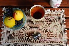 Crocheted napkin Stock Photo