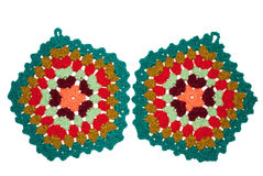 Crocheted potholders Stock Image