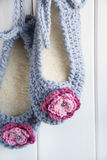 Crocheted Slippers Royalty Free Stock Photo