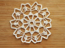 Crocheted snow flake Royalty Free Stock Photography