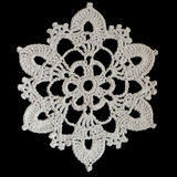 Crocheted snowflake Royalty Free Stock Image