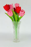Crocheted tulips Stock Photography