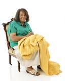 Crocheter senior Immagine Stock Libera da Diritti