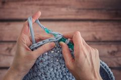 crocheting stock fotografie