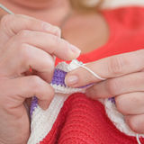 Crocheting Royalty Free Stock Image