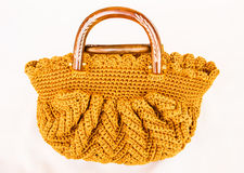 Crocheting hand bag Stock Images