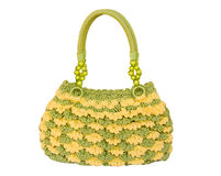 Crocheting hand bag Royalty Free Stock Photos