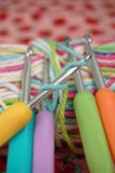 Crochets de crochet photo libre de droits