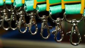 Crochets de sécurité photographie stock