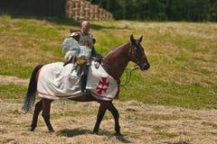 Crociato equestre Fotografia Stock Libera da Diritti