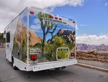 Crociera America, viaggi stradali di Campervan, parchi nazionali degli Stati Uniti Fotografia Stock Libera da Diritti