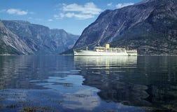 Crociera del fiordo Fotografie Stock