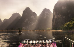 Crociera del fiume della Cina Guilin Li Fotografia Stock