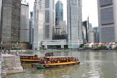 Crociera del fiume di Singapore Fotografia Stock