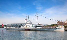 Crociera della nave a vapore Fotografie Stock Libere da Diritti