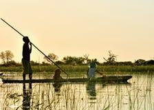 Crociera di delta di Okavango Fotografia Stock Libera da Diritti