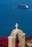 Crociera di Santorini Fotografia Stock