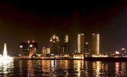 Crociera di Shanghai alla notte Fotografie Stock Libere da Diritti