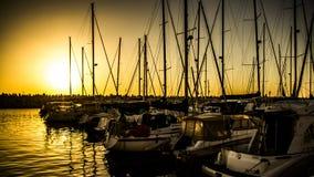 Crociera di tramonto Fotografia Stock