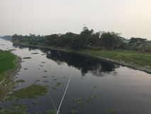 Crociera nel fiume del Bangladesh immagine stock libera da diritti
