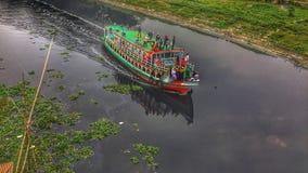 Crociera nel fiume del Bangladesh immagini stock libere da diritti
