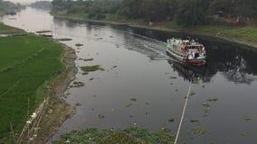 Crociera nel fiume del Bangladesh immagine stock