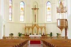 Crocifissione in cattedrale luterana evangelica Immagine Stock Libera da Diritti