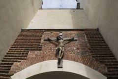 Crocifissione di Gesù nel tempio Fotografia Stock