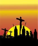 Crocifissione religiosa Fotografie Stock Libere da Diritti