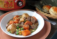 Crock Pot Beef Stew Stock Photography