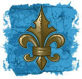 Fleur De Lys Grunge Royalty Free Stock Photos