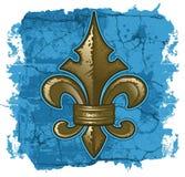 Fleur De Lys Grunge. A crocked grunge-style Fleur De Lys symbol Royalty Free Stock Photos