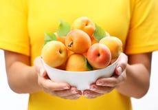 crockery абрикосов спелый стоковые изображения rf