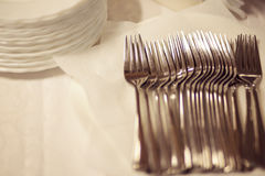 Crockery, buffet. Banquet Royalty Free Stock Image