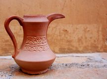 Crockery. Clay pattern kettle handwork pottery royalty free stock photos