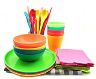 Crockery color Stock Images
