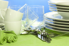 Crockery. Everything you need to set the table Stock Photos