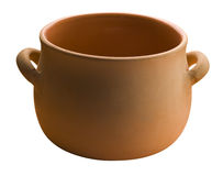 Crockery pot isolated Stock Photos