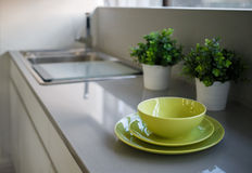 Crockery on a table Royalty Free Stock Photography