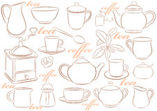 Crockery for tea and coffee Royalty Free Stock Photography