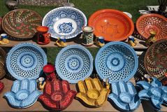 Crockery from Tunisia Royalty Free Stock Photo