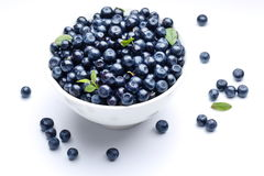 Crockery With Blueberries. Royalty Free Stock Images
