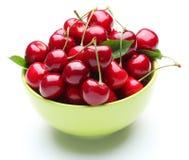 Crockery With Cherries. Stock Photography