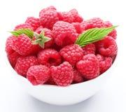 Crockery With Raspberries. Royalty Free Stock Photos